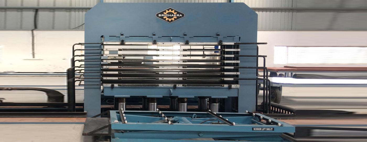 Hydraulic Press Manufacturers | Plywood Presses | Srichakra